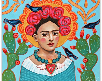 Frida and the Blackbirds  -  Art Print - Art by Regina Lord
