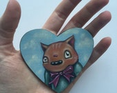 SALE - Original Tiny Oil Painting - Dumb Kitty