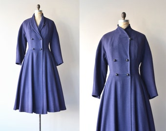 Royal Affair wool coat | vintage 1950s coat | fit and flare 50s princess coat