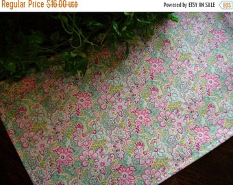 ON SALE Table Runner Floral Pink Green Blue Padded