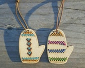 Stitchable Mitten Ornaments