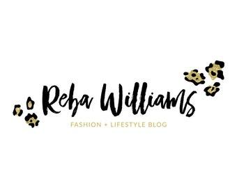 Gold Logo Glitter Logo Cheetah Logo Leopard Logo Fashion Blog Logo Photography Logo Makeup Artist Logo Lash Logo Animal Print Logo Design