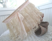 Vintage Lamp Shade * Shabby French Cottage Farmhouse Lace * Antique