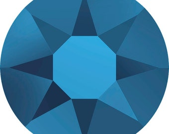 20ss/5mm Crystal Metallic Blue #001METBL Swarovski #2078 Flat Back Hotfix Crystals