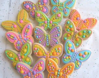 Butterfly Cookies - Butterfly Decorated Cookies - Butterfly Cookies - Cookie Gift - 1 Dozen