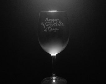 Valentines Day Personalized Wine Glass