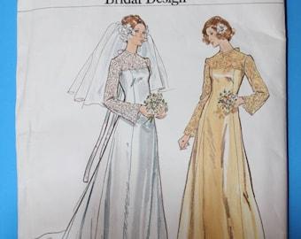 Vintage Vogue Bridal Sewing Pattern, UNCUT