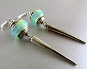 20 Off Lampwork With Sterling Silver Spike Lever Back Earrings