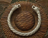 Wolf Fenrir Viking Hand made in Solid Britannia Metal   Bracelet Made in Europe