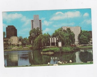 Vintage 1971 post card view of downtown Huntsville Alabama