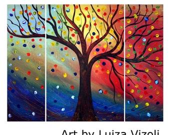 SEASONS SERENADE Original Landscape Oil  Art Modern Contemporary Painting  by Luiza Vizoli
