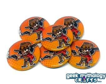 "McCree Hero Pins - 1.5"" Pin Button or Magnet"