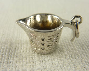 Vintage Sterling Measuring Cup Charm
