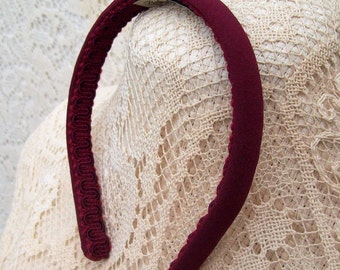 plain burgundy headband