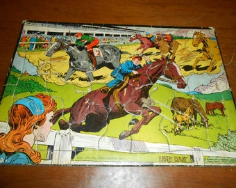 Vintage Childrens Picture Puzzle  Rusty Riley