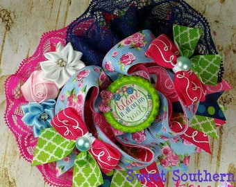 Blame It All On My Roots Over The Top Boutique Hair Bow
