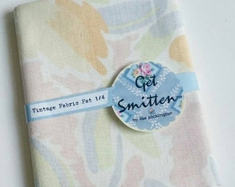 Laura Ashly Iconic Emma Print Retro 1980 Cotton English Vintage Sheeting Fabric Fat Quarter