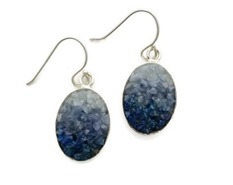 Blue Mosaic Earrings - Lapis, Sodalite & Angelite