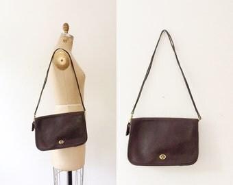 vintage Coach purse / brown leather Coach / Coach shoulder bag