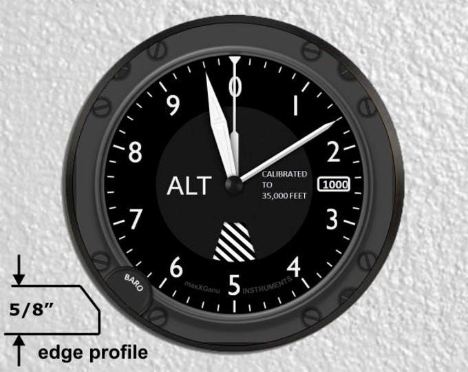 Aviation Altimeter Large Wall Plaque