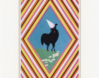 Vintage 1938 Children's Story Black Sheep Dunce Country Print