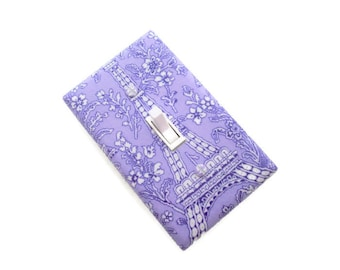 Paris Light Switch Cover - Eiffel Tower Switch Plate - Girls Purple Switch Plate - Parisian Decor - Eiffle Tower Girls Bedroom - Teen Room