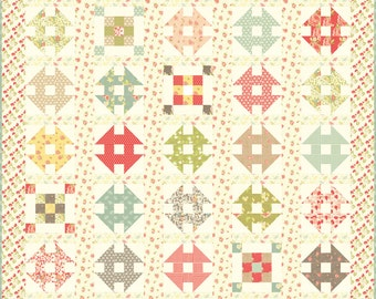 SUMMER SALE - Frivol 6 - Strawberry Fields Revisited - Fig Tree - Vintage - for Moda Fabrics