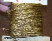 CLEARANCE - Gold Metallic Polyester Cord 2 ply .30mm 19.7 yards Great with Kumihimo
