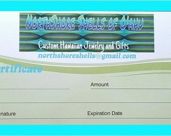 Gift Certificate to NorthShore Shells of O'ahu