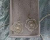 Custom Shellflower Drop Earrings