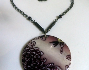 Dia Marina Necklace, Statement Necklace, Shell Pendant