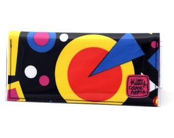 Bi-fold Clutch - Bi-fold Clutch - Crazy geometric vintage fabric