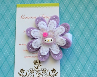 Melody.....Handstitched Felt Flower Hairclip