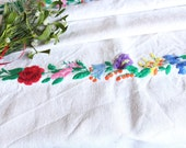 D 94: handloomed linen antique charming TOWEL napkin, LAUNDERED,리넨, decoration; tablerunner