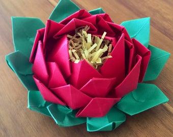 Lotus Handmade Paper Flower {Red}