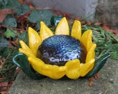 Blown Glass Sunflower Scu...