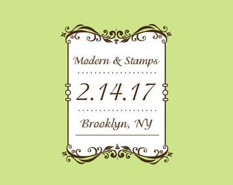 Wedding Stamp   Custom Wedding Stamp   Custom Rubber Stamp   Custom Stamp   Personalized Stamp   Frame Stamp   C374