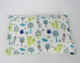 Rice Heat Pad, Rice Cold Pack, Limegreen Blue White, Animals and Nature, Heat Therapy Pack, Microwave Heat pad