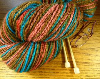 Handspun Self Patterning Wool Yarn!