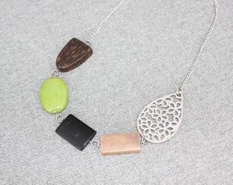 bijoux mode, collier court, bijoux fantaisie, cadeau bff, short necklace, collier noir, mode jewelry, collier ajustable