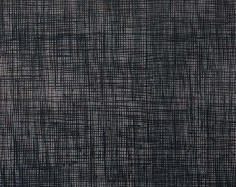 Smoke Black Heath Print from Alexander Henry sold in 1/2 yard increments