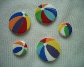 BB1 - BEACH BALLS Tile Set - Ceramic Mosaic Tiles