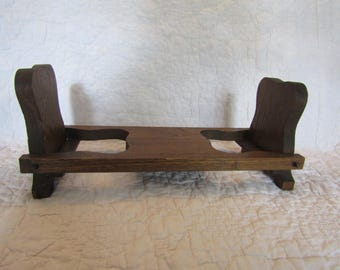 Vintage Wood Bookshelf or bookends Mission Style