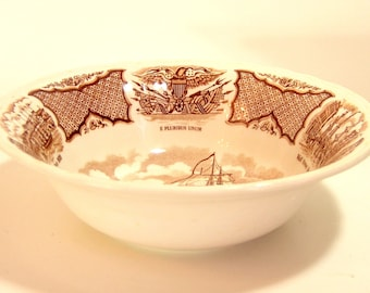 Alfred Meakin Brown Fair Winds Serving Bowl