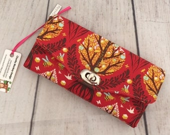 Necessary Clutch Wallet, Tula Pink, Tree of Life, Accordian Wallet