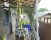 Vintage Hand-Crafted Macrame-Type Plant Hanger