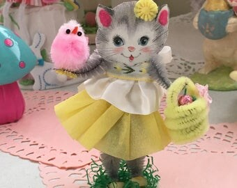 Vintage Inspired  SuGaR SwEeT Easter Kitschy Kitty Keepsake SPRINGTIME HUNT