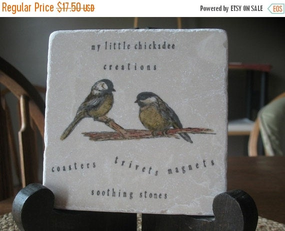 LuckySale Personalized Chickadees Kitchen Trivet