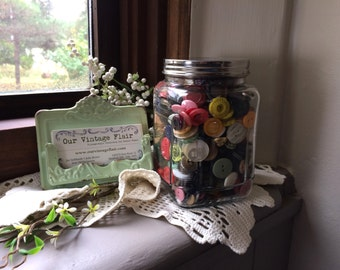 Jar of Buttons - Decorative Button Supply