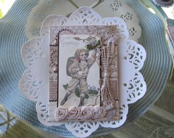 Handmade Easter Card - Victorian Easter Card